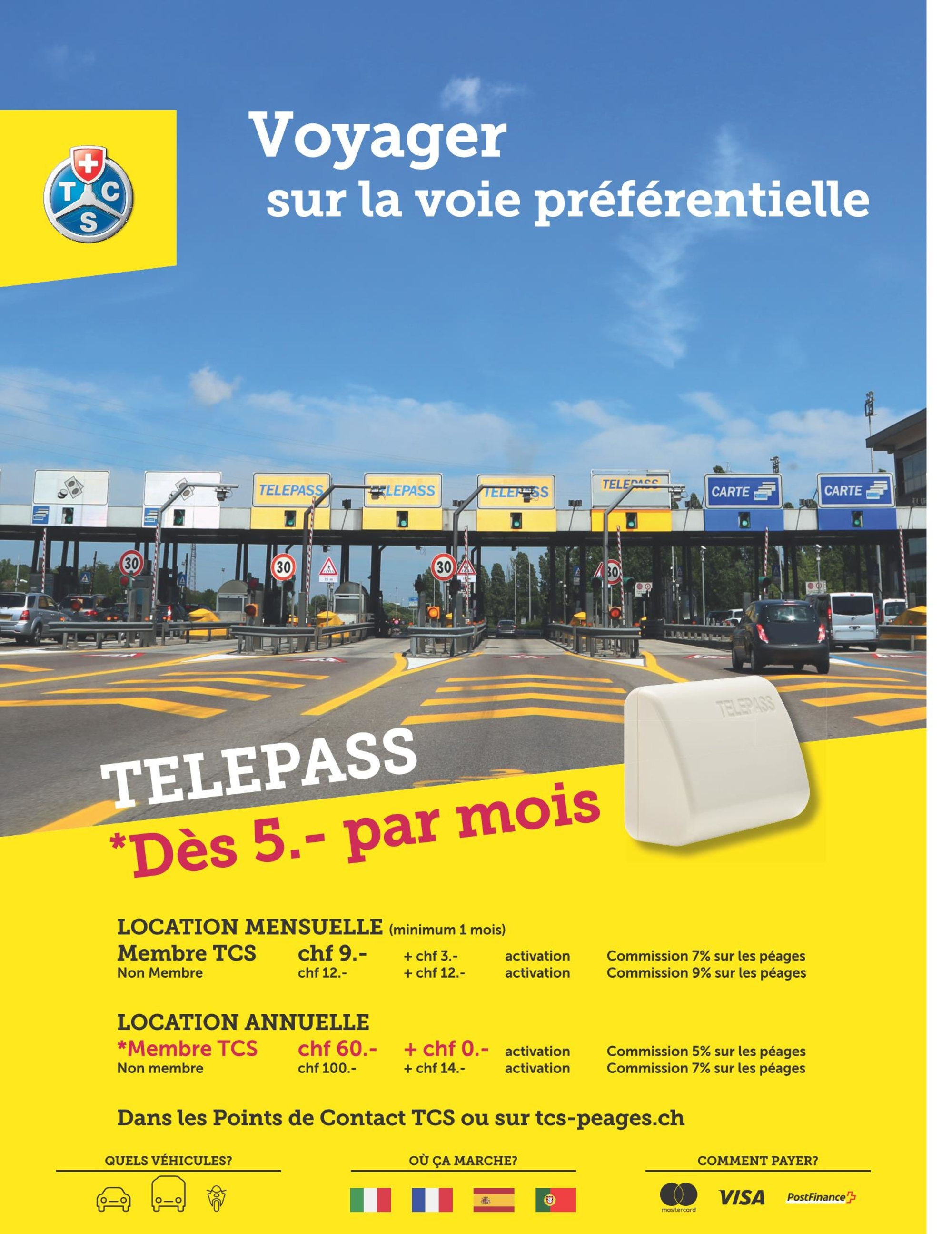 Telepeage 4 Pays Tcs Suisse