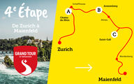 4e étape: Camping Grand Tour of Switzerland Zurich - Maienfeld