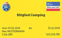 TCS Camping Mitgliedschaft