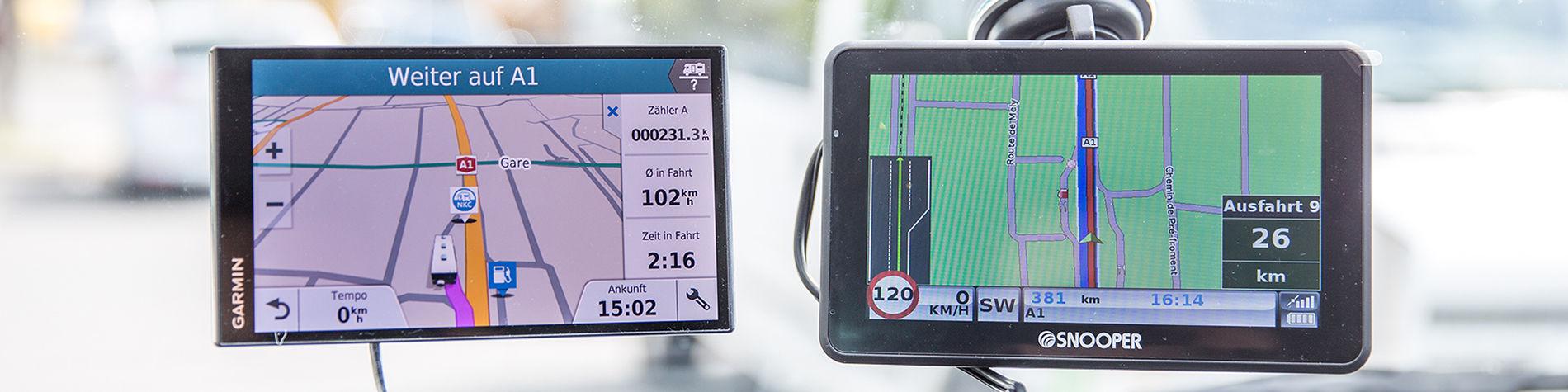 Vergleichstest von Navigationsgeräten für Camper - TCS Schweiz