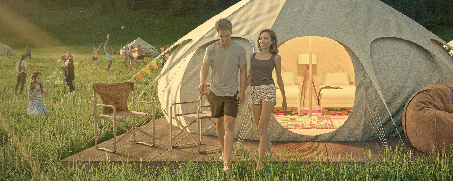 Erstes TCS Pop-Up Glamping