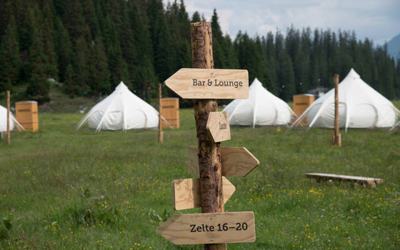 Pop up glamping Flims Laax